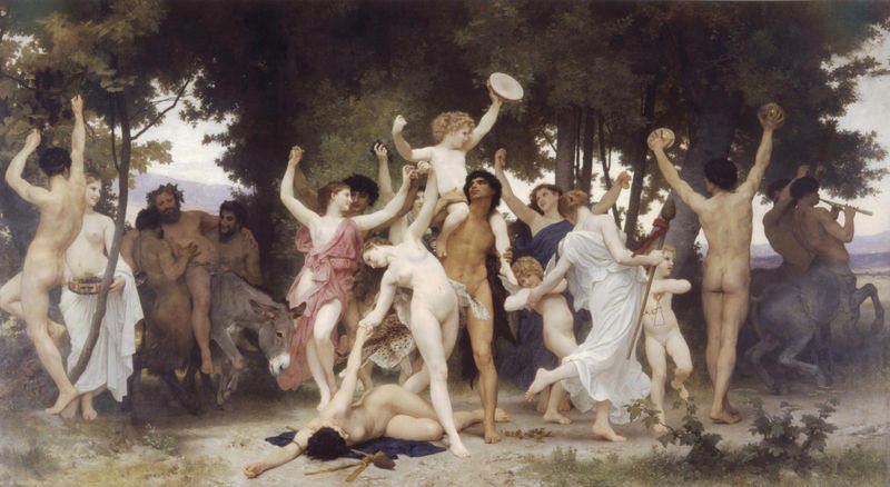 La juventud de Baco, pintura orgi�stica de William Adolphe Bouguereau (1884)